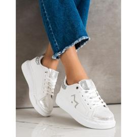 SHELOVET Stylowe Sneakersy Na Platformie białe 1