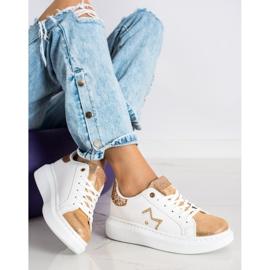 SHELOVET Stylowe Sneakersy Na Platformie białe 3