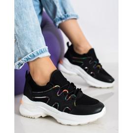 SHELOVET Czarne Sneakersy Z Siateczką 2