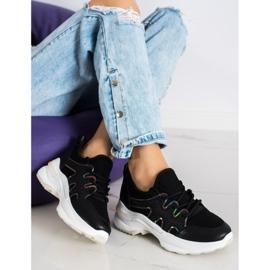 SHELOVET Czarne Sneakersy Z Siateczką 3