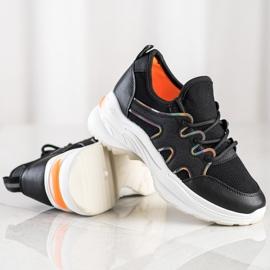 SHELOVET Czarne Sneakersy Z Siateczką 1