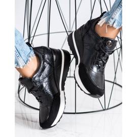 Sneakersy Na Koturnie VINCEZA czarne 2