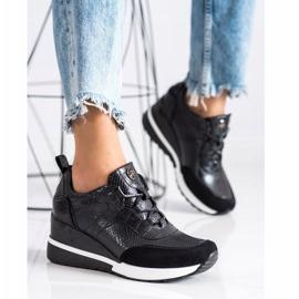 Sneakersy Na Koturnie VINCEZA czarne 3
