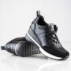 Sneakersy Na Koturnie VINCEZA czarne 1