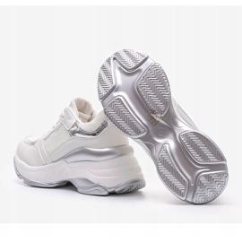 Srebrne sneakersy na grubej podeszwie Lydia srebrny 3