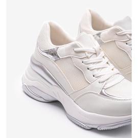 Srebrne sneakersy na grubej podeszwie Lydia srebrny 4