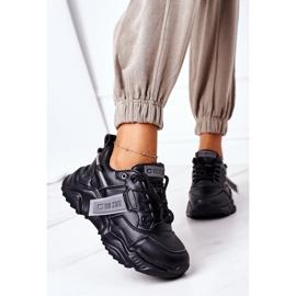 Damskie Sportowe Buty Sneakersy Big Star GG274215 Czarno-Szare czarne 2