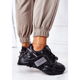 Damskie Sportowe Buty Sneakersy Big Star GG274215 Czarno-Szare czarne 4