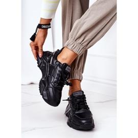 Damskie Sportowe Buty Sneakersy Big Star GG274215 Czarno-Szare czarne 3