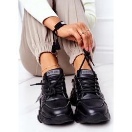 Damskie Sportowe Buty Sneakersy Big Star GG274215 Czarno-Szare czarne 1