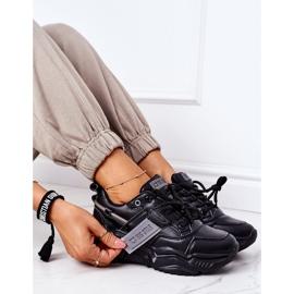 Damskie Sportowe Buty Sneakersy Big Star GG274215 Czarno-Szare czarne 5
