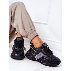 Damskie Sportowe Buty Sneakersy Big Star GG274215 Czarno-Szare czarne 7