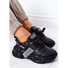 Damskie Sportowe Buty Sneakersy Big Star GG274215 Czarno-Szare czarne 6