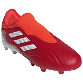 Buty piłkarskie adidas Copa Sense.3 Ll Fg Jr FY6156 czerwone czerwone 3
