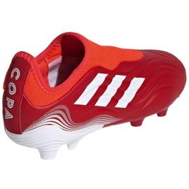 Buty piłkarskie adidas Copa Sense.3 Ll Fg Jr FY6156 czerwone czerwone 4