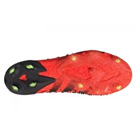 Buty piłkarskie adidas Predator Freak+ Fg M FY6238 wielokolorowe czerwone 4
