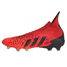Buty piłkarskie adidas Predator Freak+ Fg M FY6238 wielokolorowe czerwone 5