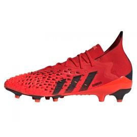 Buty piłkarskie adidas Predator Freak.1 Ag M FY6253 czerwone czerwone 1