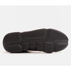 Marco Shoes Czarne skórzane sneakersy z wstawką na pięcie 5