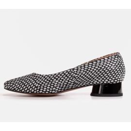 Marco Shoes Baleriny w biało-czarne wzory białe 2