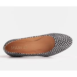 Marco Shoes Baleriny w biało-czarne wzory białe 3