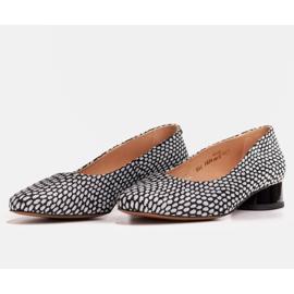 Marco Shoes Baleriny w biało-czarne wzory białe 5