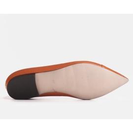 Marco Shoes Baleriny z brązowej skóry licowej 3