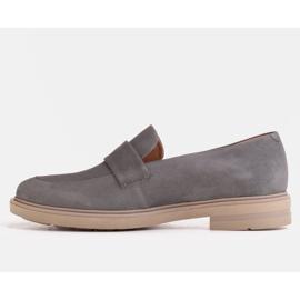 Marco Shoes Szare mokasyny na lekkiej podeszwie 1