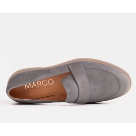 Marco Shoes Szare mokasyny na lekkiej podeszwie 2