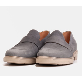 Marco Shoes Szare mokasyny na lekkiej podeszwie 4
