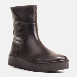 Marco Shoes Ocieplane botki sportowe na obszywanym spodzie czarne 1