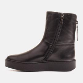 Marco Shoes Ocieplane botki sportowe na obszywanym spodzie czarne 2