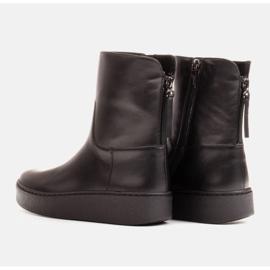 Marco Shoes Ocieplane botki sportowe na obszywanym spodzie czarne 4
