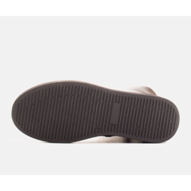 Marco Shoes Ocieplane botki sportowe na obszywanym spodzie czarne 6