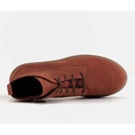 Marco Shoes Niskie botki sznurowane z miękkiej skóry pomarańczowe 6