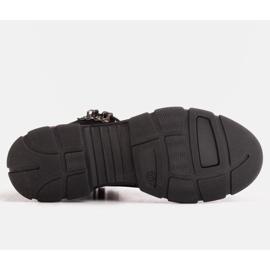 Marco Shoes Sportowe botki damskie z lekkim ociepleniem jesienno-zimowym czarne 2