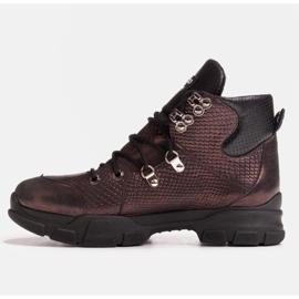 Marco Shoes Sportowe botki damskie z lekkim ociepleniem jesienno-zimowym fioletowe 4