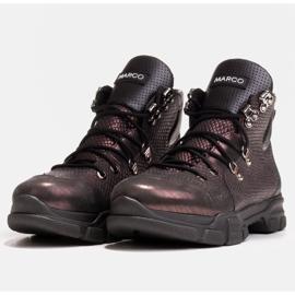 Marco Shoes Sportowe botki damskie z lekkim ociepleniem jesienno-zimowym fioletowe 1