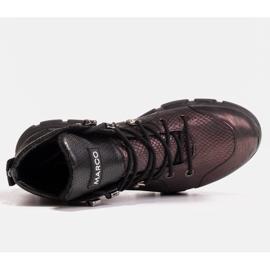 Marco Shoes Sportowe botki damskie z lekkim ociepleniem jesienno-zimowym fioletowe 2