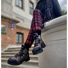 Marco Shoes Sportowe botki damskie z lekkim ociepleniem jesienno-zimowym czarne 5