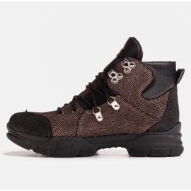 Marco Shoes Sportowe botki damskie z lekkim ociepleniem jesienno-zimowym czarne 3