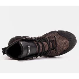 Marco Shoes Sportowe botki damskie z lekkim ociepleniem jesienno-zimowym czarne 4