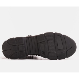 Marco Shoes Sportowe botki damskie z lekkim ociepleniem jesienno-zimowym czarne 1