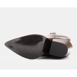 Marco Shoes Wysokie kozaki damskie kowbojki z naturalnej skóry czarne 6