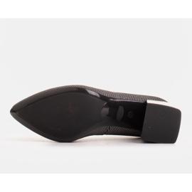 Marco Shoes Czólenka damskie z naturalnej, miękkiej skóry w srebrne paski czarne 6