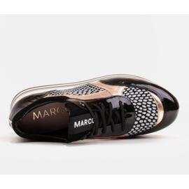 Marco Shoes Lekkie sneakersy na grubej podeszwie z naturalnej skóry czarne 7
