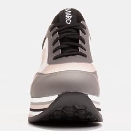 Marco Shoes Lekkie sneakersy na grubej podeszwie z naturalnej skóry szare 2