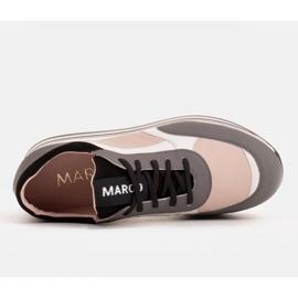 Marco Shoes Lekkie sneakersy na grubej podeszwie z naturalnej skóry szare 6