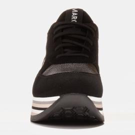 Marco Shoes Lekkie sneakersy na grubej podeszwie z naturalnej skóry czarne 2