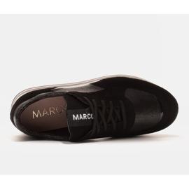 Marco Shoes Lekkie sneakersy na grubej podeszwie z naturalnej skóry czarne 5